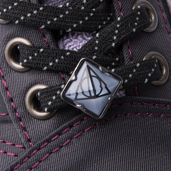 alternate view Vans x Harry Potter Old Skool Deathly Hallows Skate Shoe - Little Kid / Big Kid - BlackALT8