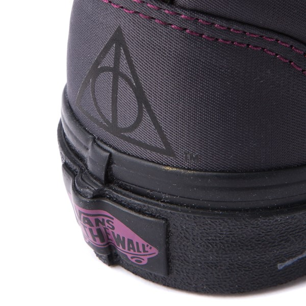 alternate view Vans x Harry Potter Old Skool Deathly Hallows Skate Shoe - Little Kid / Big Kid - BlackALT9