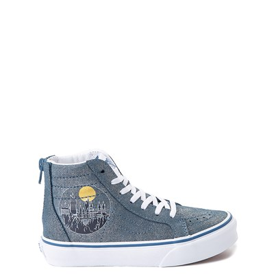 Main view of Vans x Harry Potter Sk8 Hi Zip Hogwarts Skate Shoe - Little Kid / Big Kid - Blue
