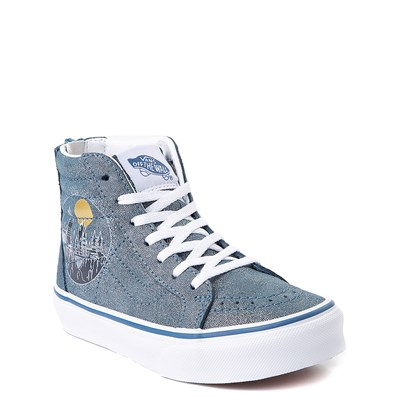 Alternate view of Vans x Harry Potter Sk8 Hi Zip Hogwarts Skate Shoe - Little Kid / Big Kid - Blue
