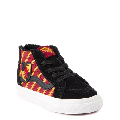 Alternate view of Vans x Harry Potter Sk8 Hi Gryffindor Skate Shoe - Baby / Toddler - Black / Scarlet / Gold