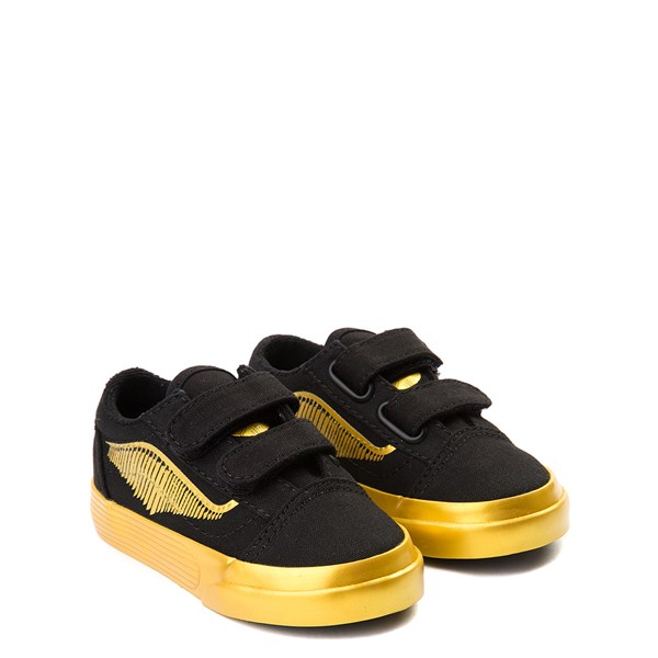 alternate view Vans x Harry Potter Old Skool V Golden Snitch Skate Shoe - Baby / Toddler - BlackALT1
