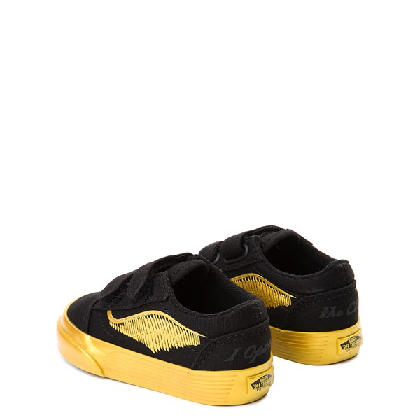 alternate view Vans x Harry Potter Old Skool V Golden Snitch Skate Shoe - Baby / Toddler - BlackALT2