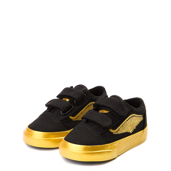 alternate view Vans x Harry Potter Old Skool V Golden Snitch Skate Shoe - Baby / Toddler - BlackALT3