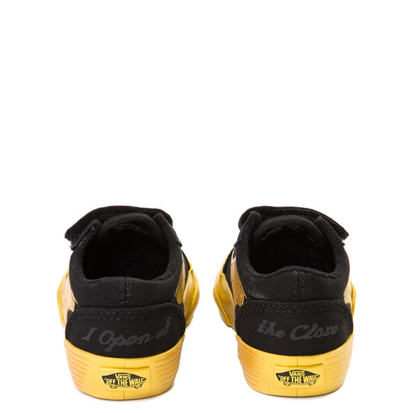 alternate view Vans x Harry Potter Old Skool V Golden Snitch Skate Shoe - Baby / Toddler - BlackALT6