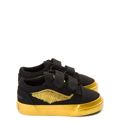 Main view of Vans x Harry Potter Old Skool V Golden Snitch Skate Shoe - Baby / Toddler - Black