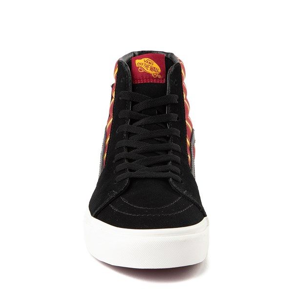 alternate view Vans x Harry Potter Sk8 Hi Gryffindor Skate Shoe - Black / Scarlet / GoldALT4