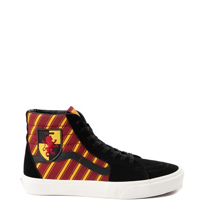 Main view of Vans x Harry Potter Sk8 Hi Gryffindor Skate Shoe - Black / Scarlet / Gold