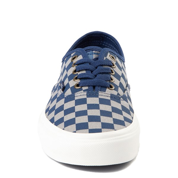 alternate view Vans x Harry Potter Authentic Ravenclaw Checkerboard Skate Shoe - Blue / GrayALT4