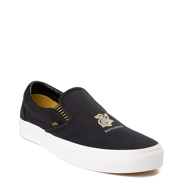 alternate view Vans x Harry Potter Slip On Hufflepuff Skate Shoe - Black / YellowALT1
