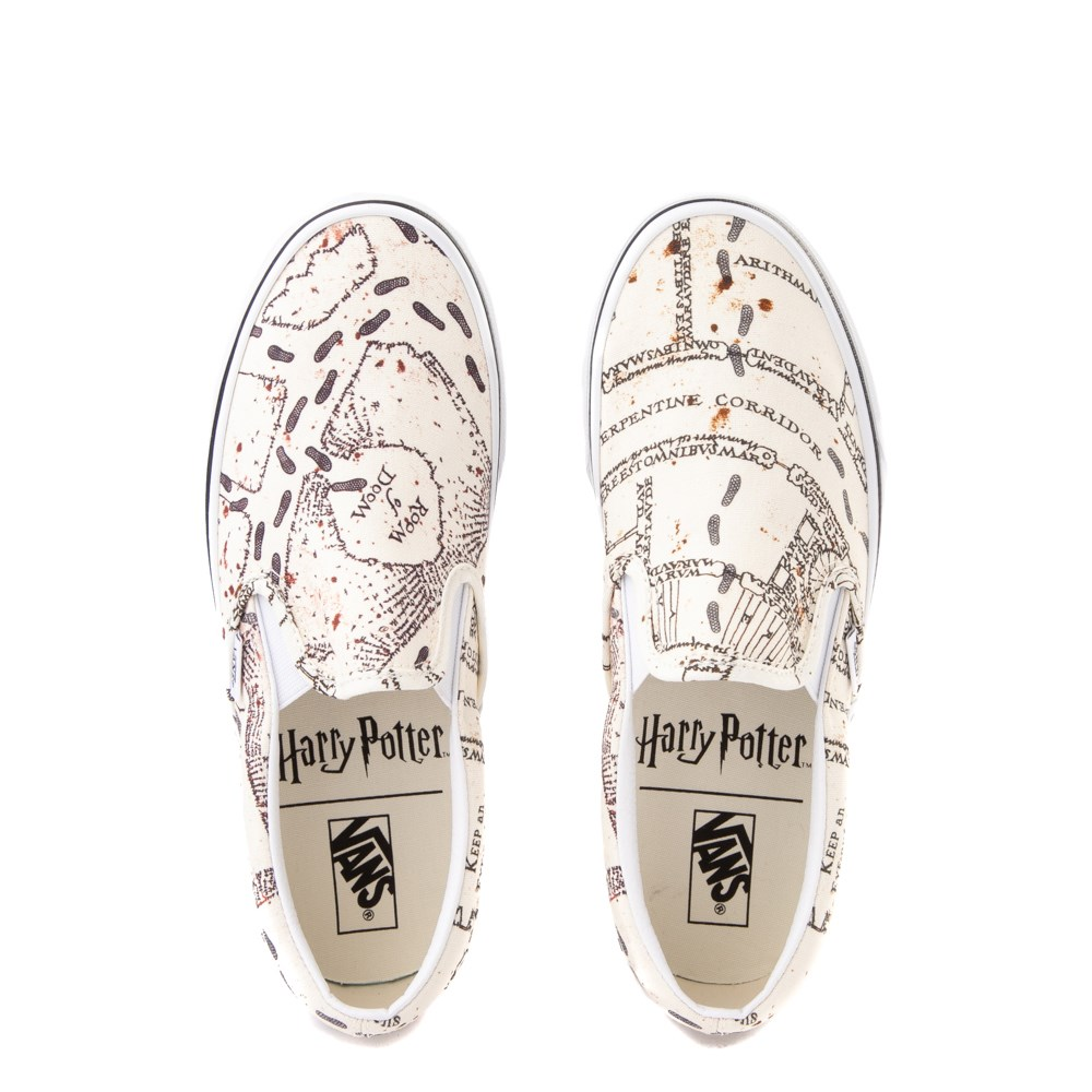 Details about Vans X Harry Potter Maraurders Map Slip On Sneakers Skate Shoes New
