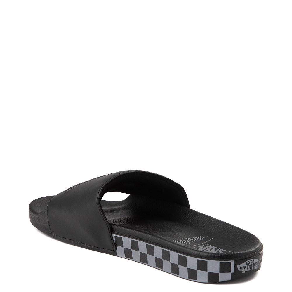 94fdf793 Mens Vans x Harry Potter Slide On Deathly Hallows Checkerboard Sandal