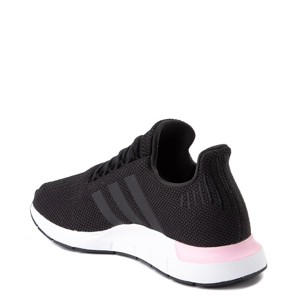 alternate view Womens adidas Swift Run Athletic Shoe - Black / PinkALT2