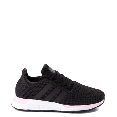 Main view of Womens adidas Swift Run Athletic Shoe - Black / Pink