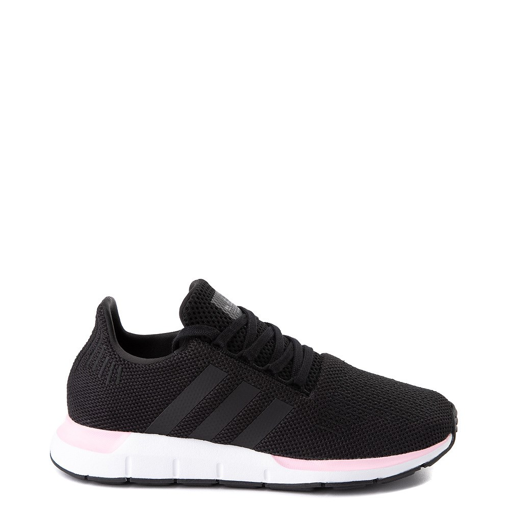 Womens adidas Swift Run Athletic Shoe - Black / Pink