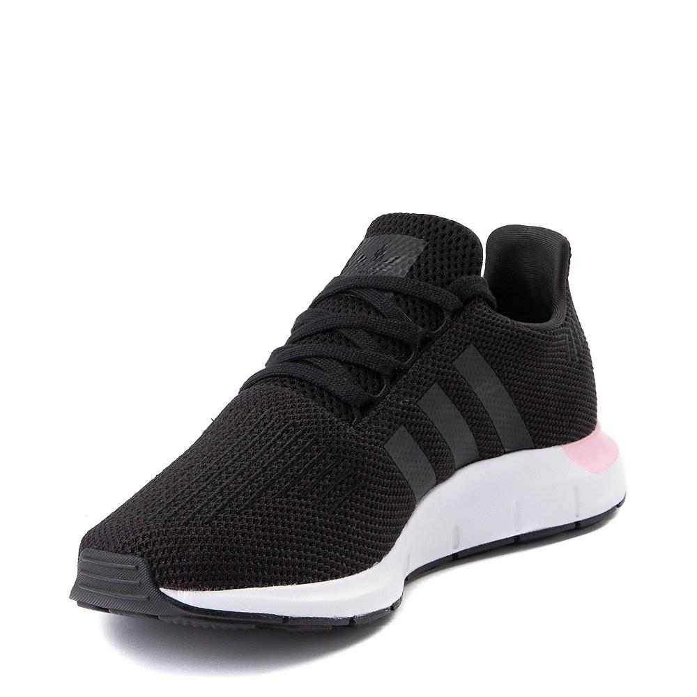 Womens adidas Swift Run Athletic Shoe Black Pink