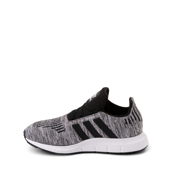 alternate view adidas Swift Run Athletic Shoe - Little Kid - Gray / BlackALT1