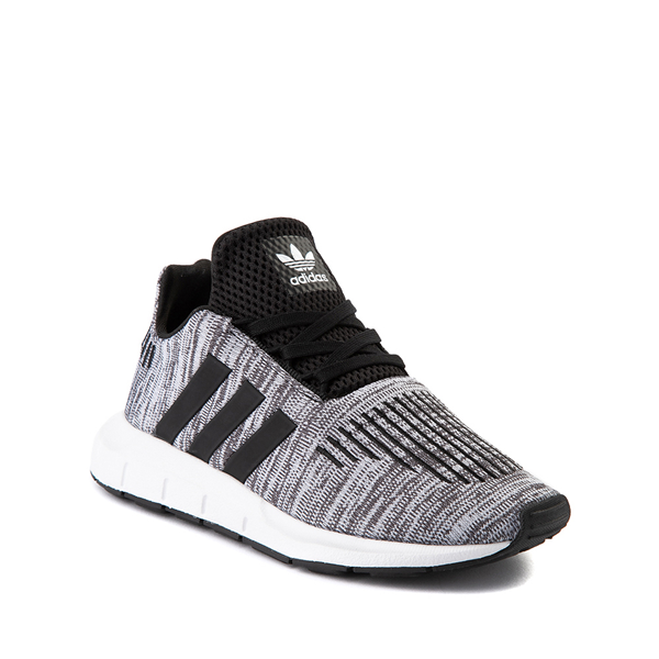 alternate view adidas Swift Run Athletic Shoe - Little Kid - Gray / BlackALT5