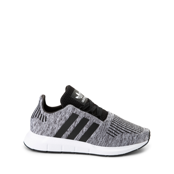 adidas Swift Run Athletic Shoe - Big Kid - Gray / Black
