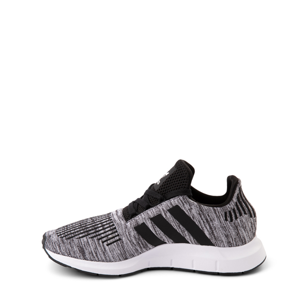 alternate view adidas Swift Run Athletic Shoe - Big Kid - Gray / BlackALT1