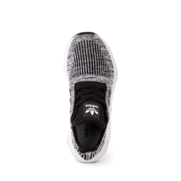 alternate view adidas Swift Run Athletic Shoe - Big Kid - Gray / BlackALT2