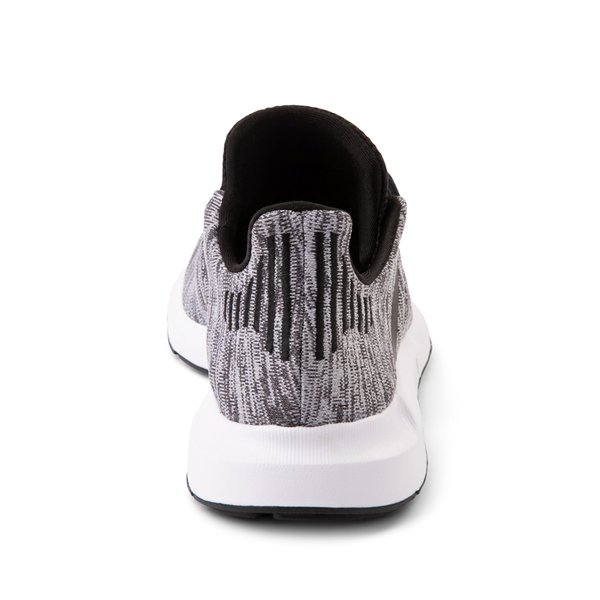 alternate view adidas Swift Run Athletic Shoe - Big Kid - Gray / BlackALT4
