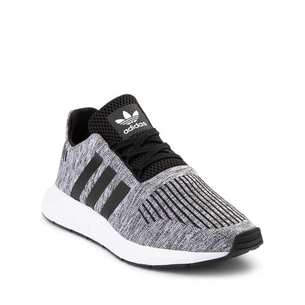 alternate view adidas Swift Run Athletic Shoe - Big Kid - Gray / BlackALT5
