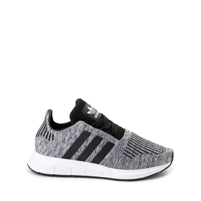 Main view of adidas Swift Run Athletic Shoe - Big Kid - Gray / Black