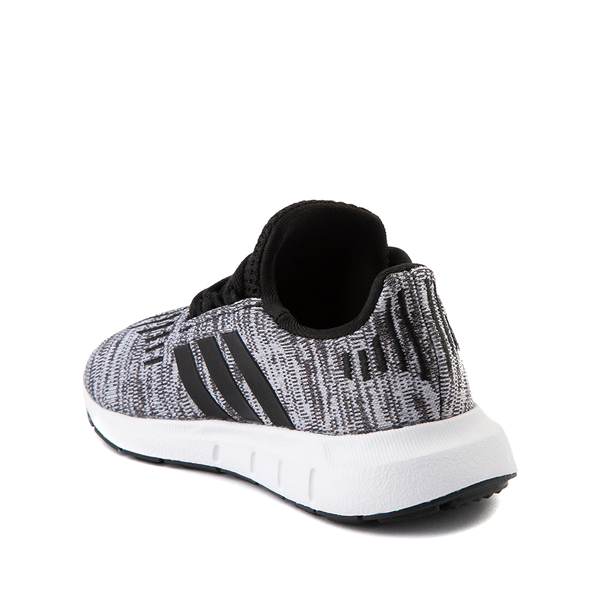 alternate view adidas Swift Run Athletic Shoe - Baby / Toddler - Gray / BlackALT1