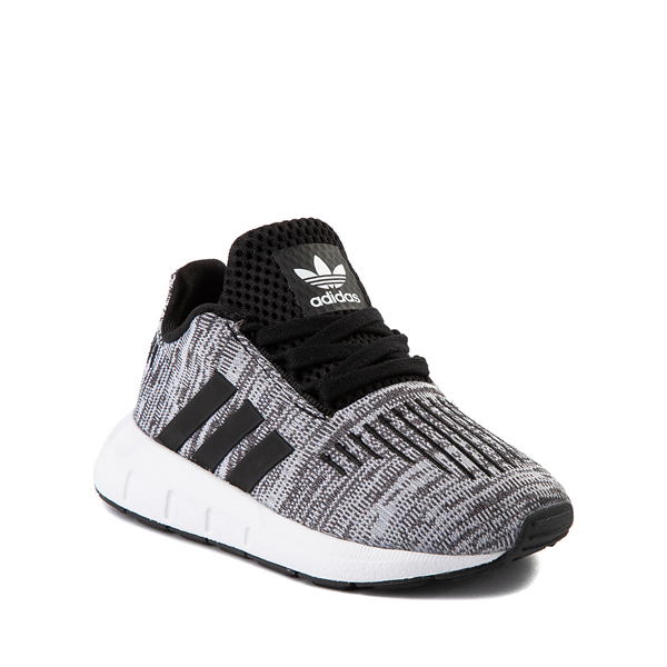 alternate view adidas Swift Run Athletic Shoe - Baby / Toddler - Gray / BlackALT5