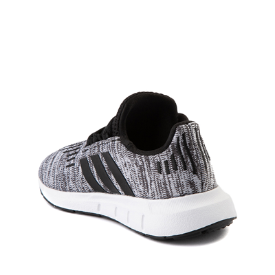 Alternate view of adidas Swift Run Athletic Shoe - Baby / Toddler - Gray / Black