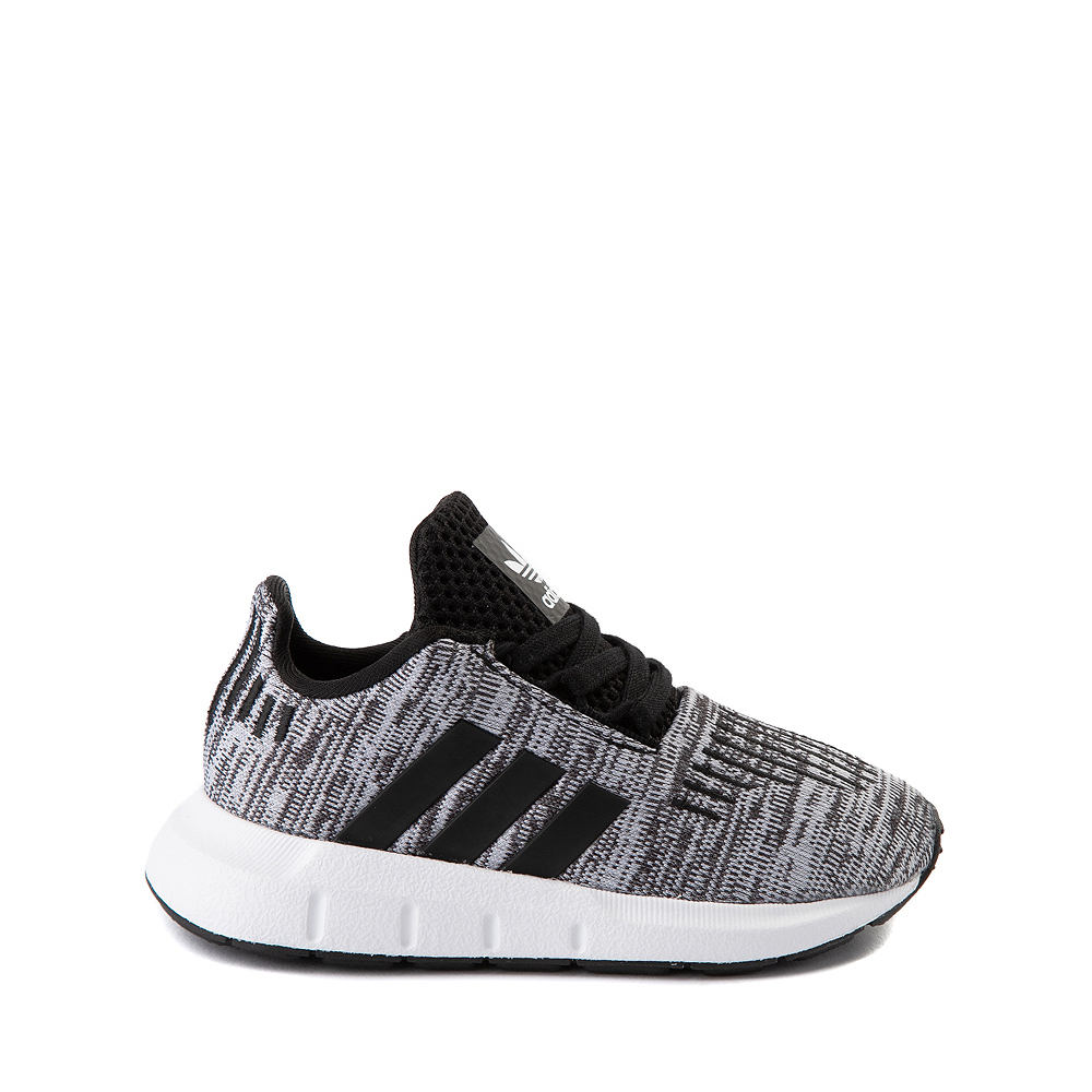 adidas Swift Run Athletic Shoe - Baby / Toddler - Gray / Black