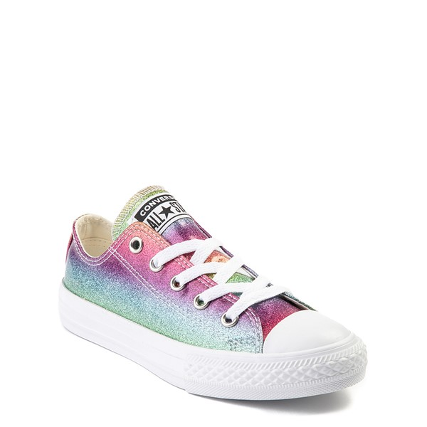 alternate view Converse Chuck Taylor All Star Lo Glitter Sneaker - Little KidALT5