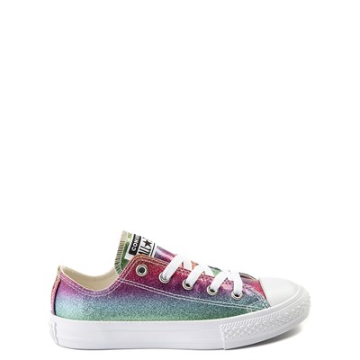 Main view of Converse Chuck Taylor All Star Lo Glitter Sneaker - Little Kid