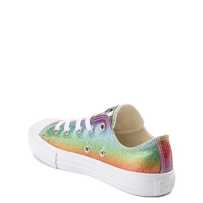 Alternate view of Converse Chuck Taylor All Star Lo Glitter Sneaker - Little Kid - Multi