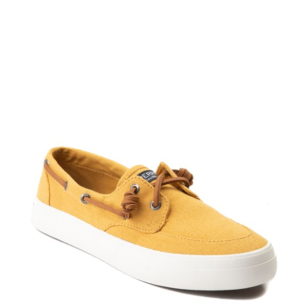 alternate view Womens Sperry Top-Sider Crest Boat Shoe - Mineral YellowALT1