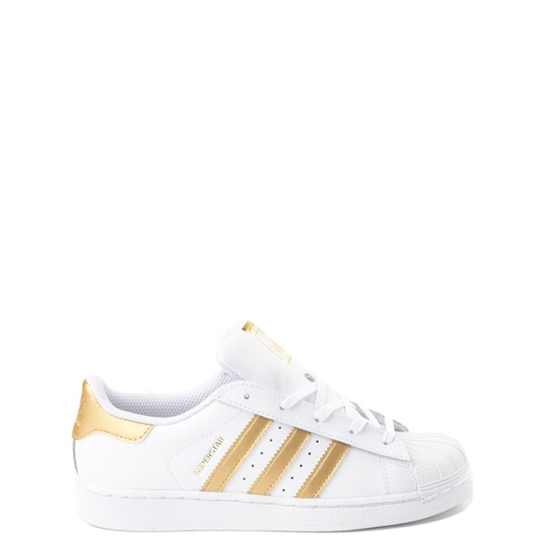 adidas Superstar Athletic Shoe - Big Kid - White / Gold