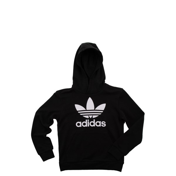 Main view of adidas Trefoil Hoodie - Little Kid / Big Kid - Black