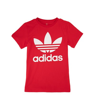 Alternate view of adidas Trefoil Tee - Little Kid / Big Kid - Red