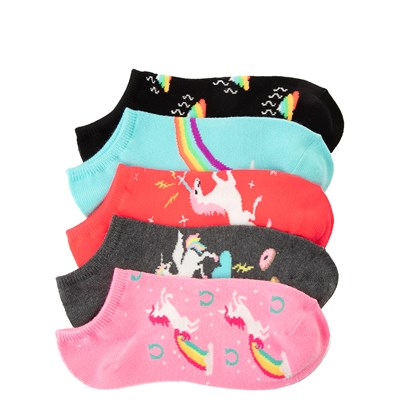 Main view of Womens Unicorn Glow Low Cut Socks 5 Pack