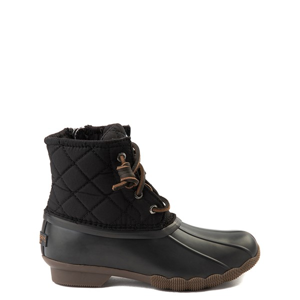 Main view of Sperry Top-Sider Saltwater Quilted Nylon Duck Boot - Little Kid / Big Kid - Black