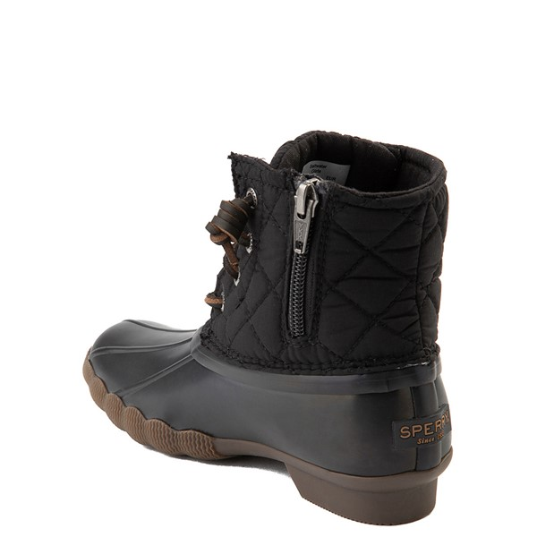 alternate view Sperry Top-Sider Saltwater Quilted Nylon Duck Boot - Little Kid / Big Kid - BlackALT1