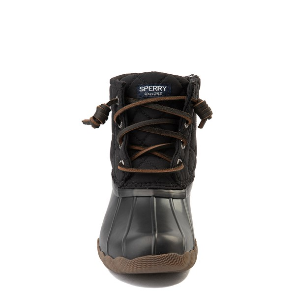 alternate view Sperry Top-Sider Saltwater Quilted Nylon Duck Boot - Little Kid / Big Kid - BlackALT4
