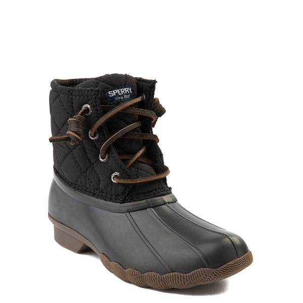 alternate view Sperry Top-Sider Saltwater Quilted Nylon Duck Boot - Little Kid / Big Kid - BlackALT5