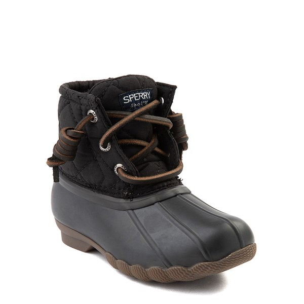 alternate view Sperry Top-Sider Saltwater Quilted Nylon Duck Boot - Toddler / Little Kid - BlackALT1