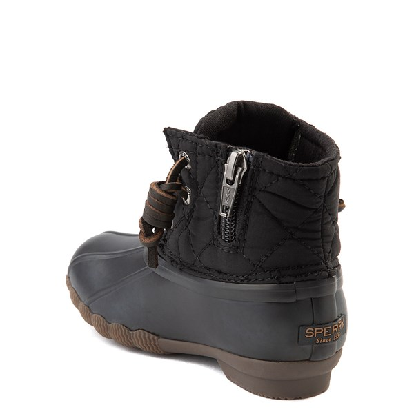 alternate view Sperry Top-Sider Saltwater Quilted Nylon Duck Boot - Toddler / Little Kid - BlackALT2