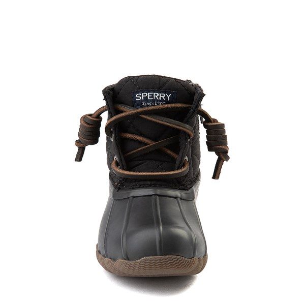 alternate view Sperry Top-Sider Saltwater Quilted Nylon Duck Boot - Toddler / Little Kid - BlackALT4