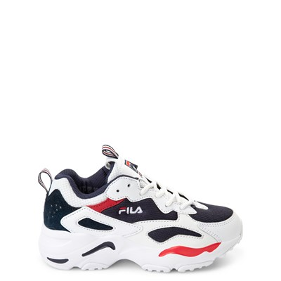Main view of Fila Ray Tracer Athletic Shoe - Little Kid - White / Navy / Red