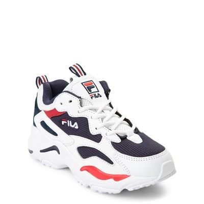 Alternate view of Fila Ray Tracer Athletic Shoe - Little Kid - White / Navy / Red