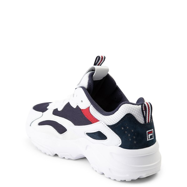 alternate view Fila Ray Tracer Athletic Shoe - Big Kid - White / Navy / RedALT1